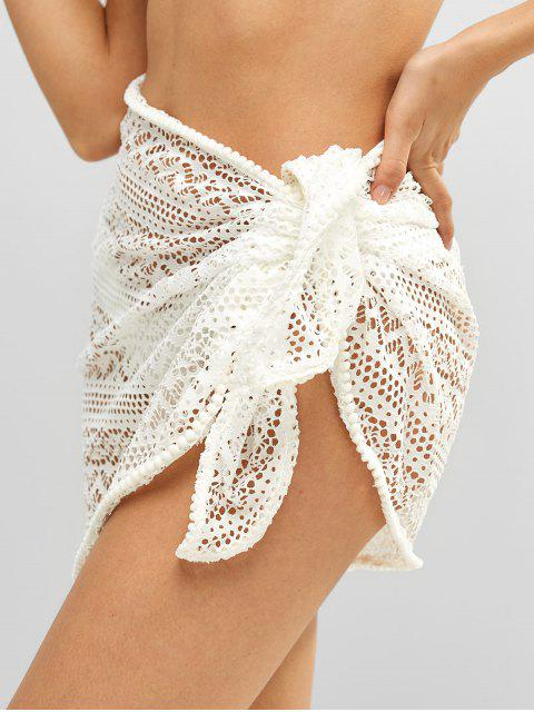 buy Bobble Trim Lace Sarong - WHITE ONE SIZE Mobile