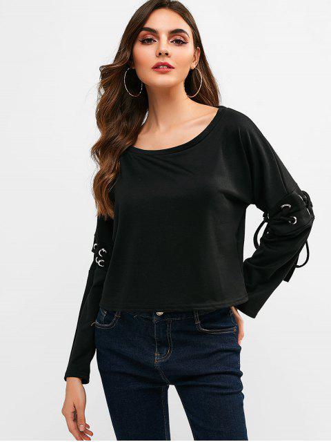 T-shirt Court Simple Croisé - Noir M Mobile