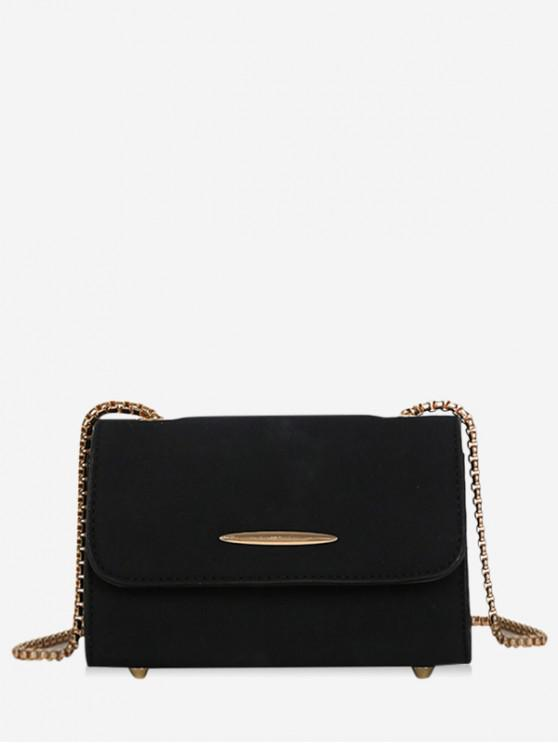 women Chain Retro Ins Style Shoulder Bag - BLACK