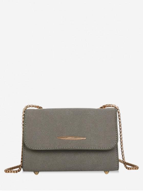online Chain Retro Ins Style Shoulder Bag - GRAY