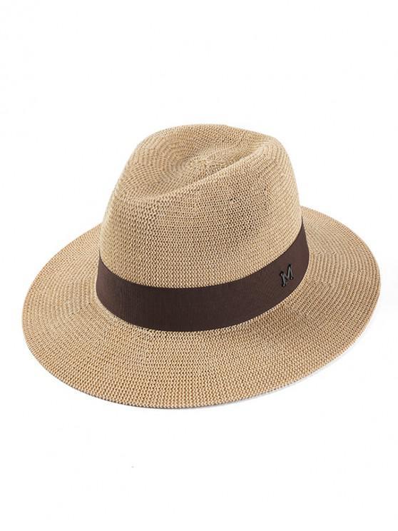 latest Retro Letter M Decorative Cowboy Hat - BEIGE