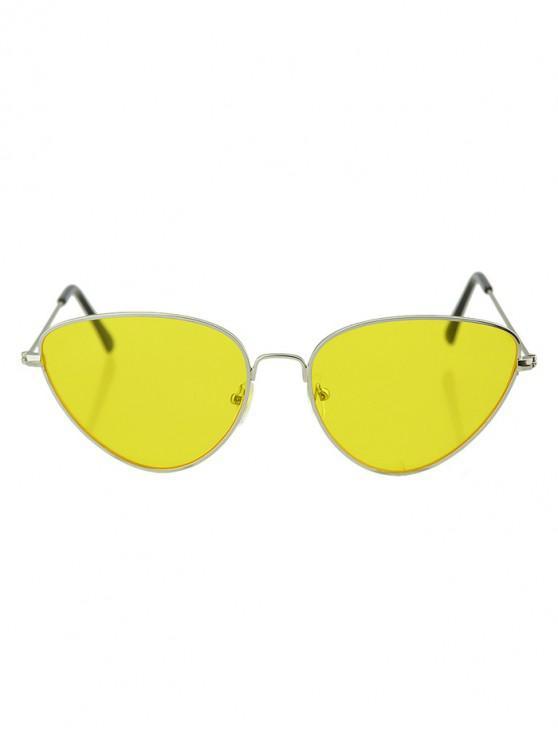 shops Beach Catty Eye Triangle Sunglasses - YELLOW