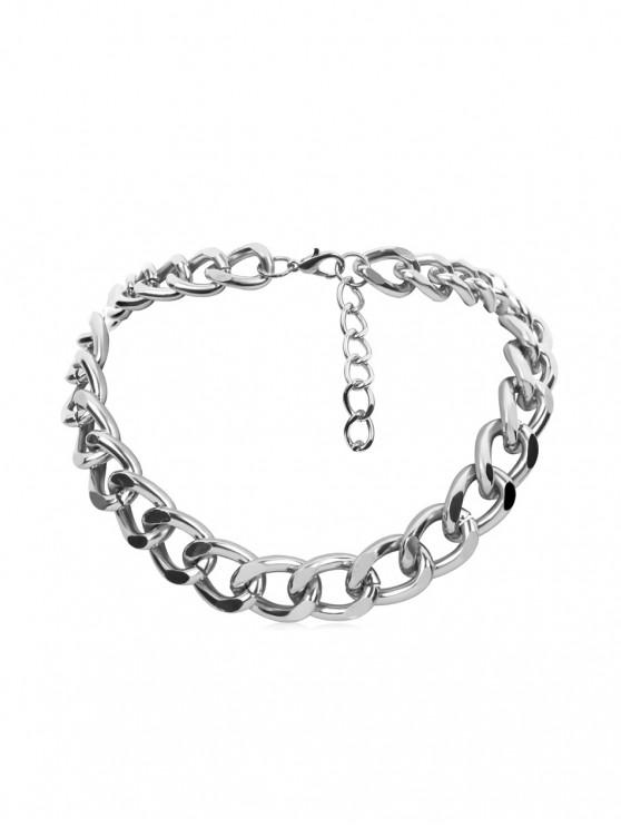 outfits Brief Link Chain Collarbone Necklace - SILVER