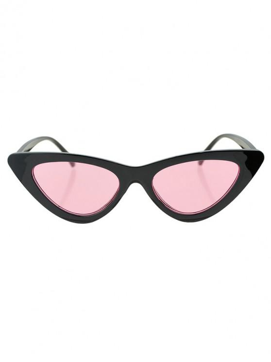 women's Beach Triangle Kitty Eye Sunglasses - LIGHT PINK