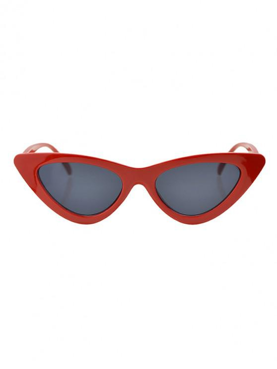 new Beach Triangle Kitty Eye Sunglasses - LAVA RED
