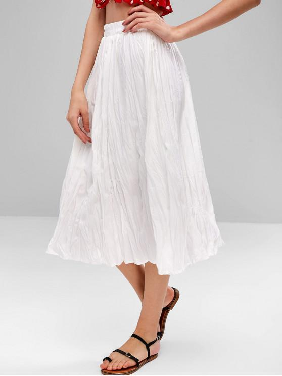 sale Midi Pleated Skirt - WHITE ONE SIZE