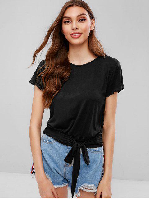 Camiseta de lazo sólido - Negro XL Mobile