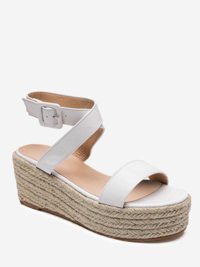 fe33978103c Cross Strap Espadrilles Platform Sandals - White Eu 39 ...