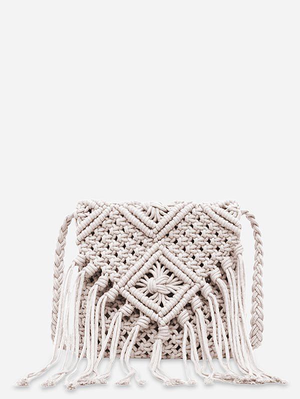 Tassel String Weaving Shoulder Bag фото