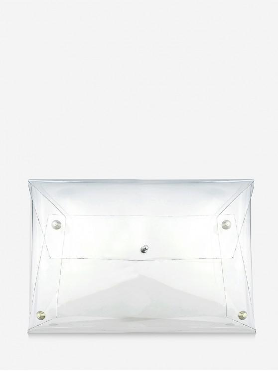 fancy Brief Transparent Clutch Bag - TRANSPARENT
