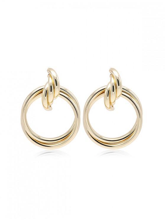 shops Metal Circles Drop Earrings - GOLD