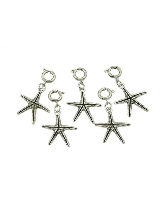 trendy 5Pcs Carved Starfish Hair Accessories Set - SILVER