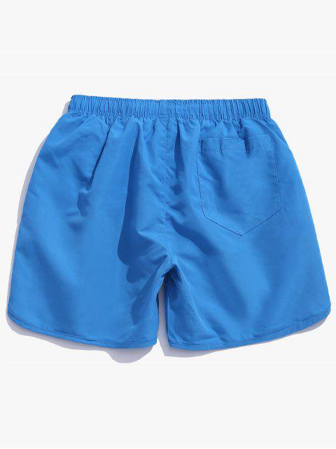 shop Solid Color Casual Swimming Shorts - LIGHT SKY BLUE 2XL Mobile