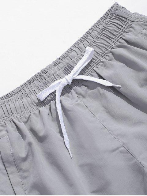 fashion Solid Color Casual Swimming Shorts - GRAY CLOUD 2XL Mobile