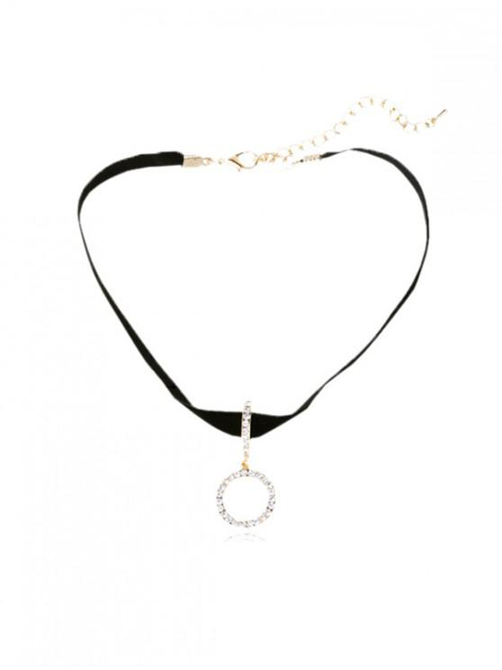 women Rhinestone Inlaid Collarbone Necklace - BLACK