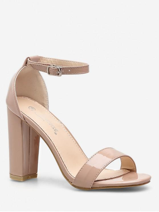 lady Simple Buckled High Heel Sandals - APRICOT EU 39