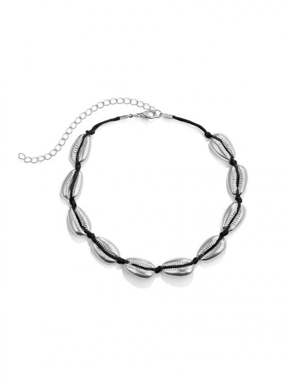 affordable Shell Shape Rope Choker Necklace - SILVER