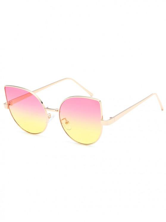 5a7b8e1a6b 17% OFF  2019 Metal Kitty Eye Polarized Sunglasses In GOLDENROD