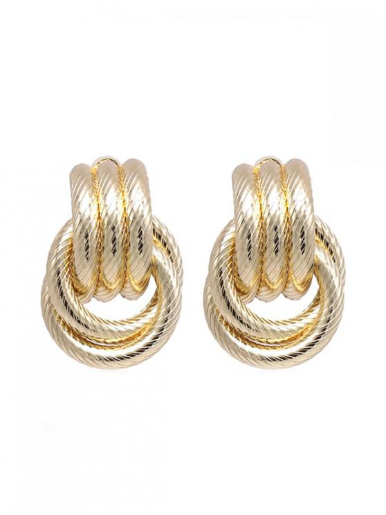 chic Alloy Ring Layered Earrings - GOLD