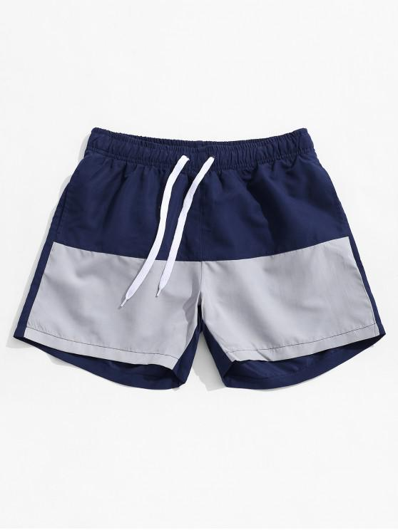 Pantalones cortos de natación de playa en dos tonos - Azul Profundo XL