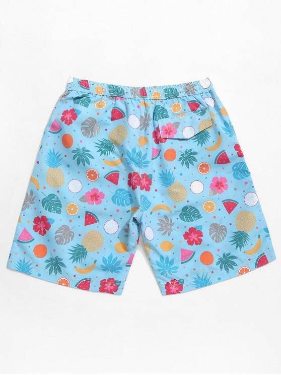 Hawaïen De ImpriméBleu M Fruit Short Plage Fleuri Mer e2EH9WIDY