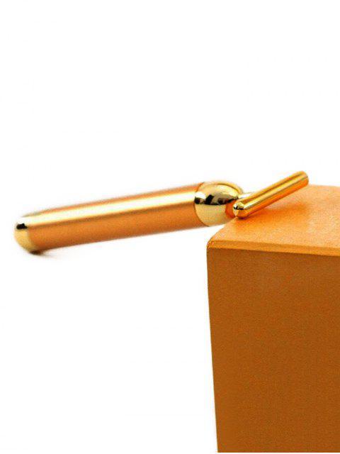 sale V Face Vibrating Gold T Stick Massage Stick - GOLDEN BROWN  Mobile