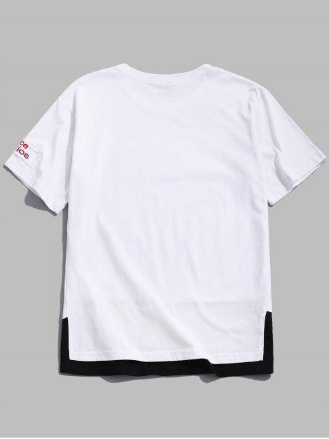 Las letras imprimen remiendo Twinset camiseta - Blanco 4XL Mobile
