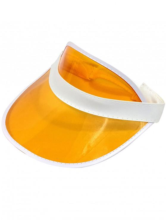 shop Neon Transparent PVC Visor Cap - BASKET BALL ORANGE