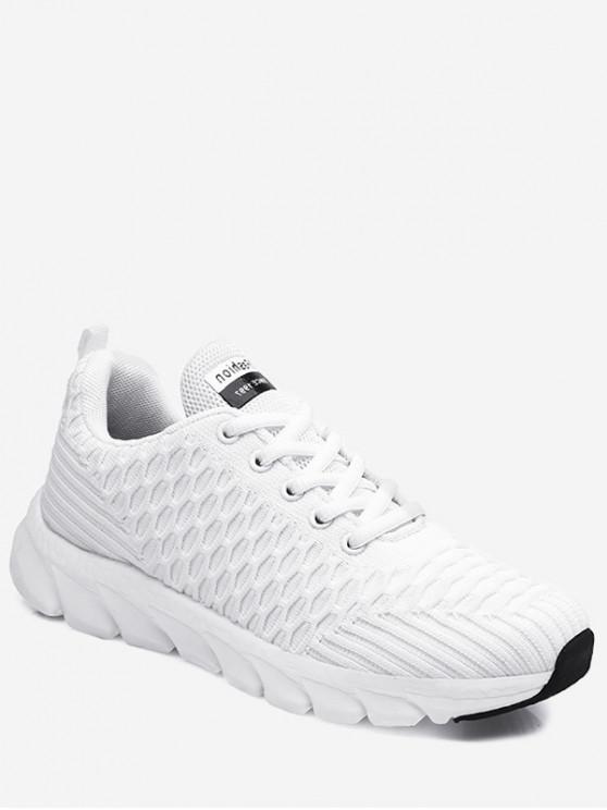 fashion Soft Woven Sports Shoes - WHITE EU 37