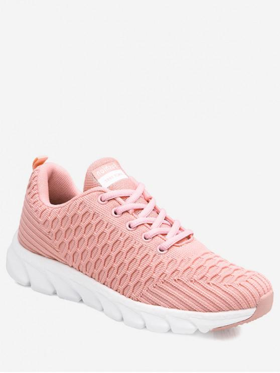 affordable Soft Woven Sports Shoes - PINK EU 39