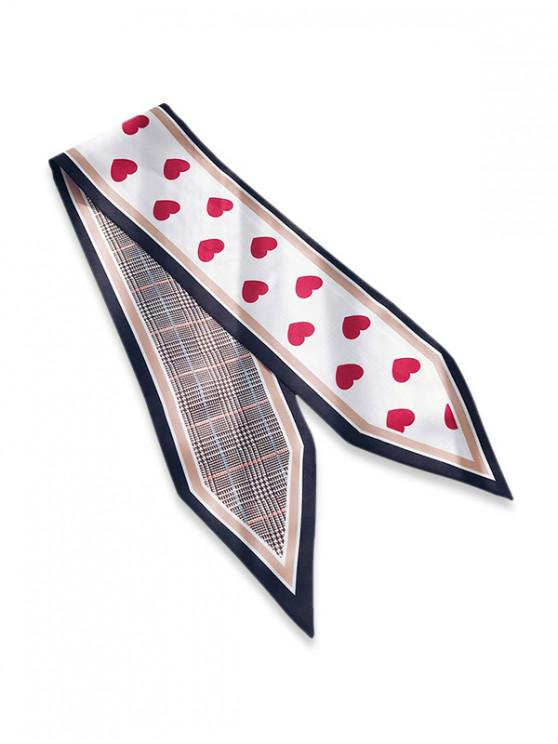 lady Heart Houndstooth Double Face Scarf - RED