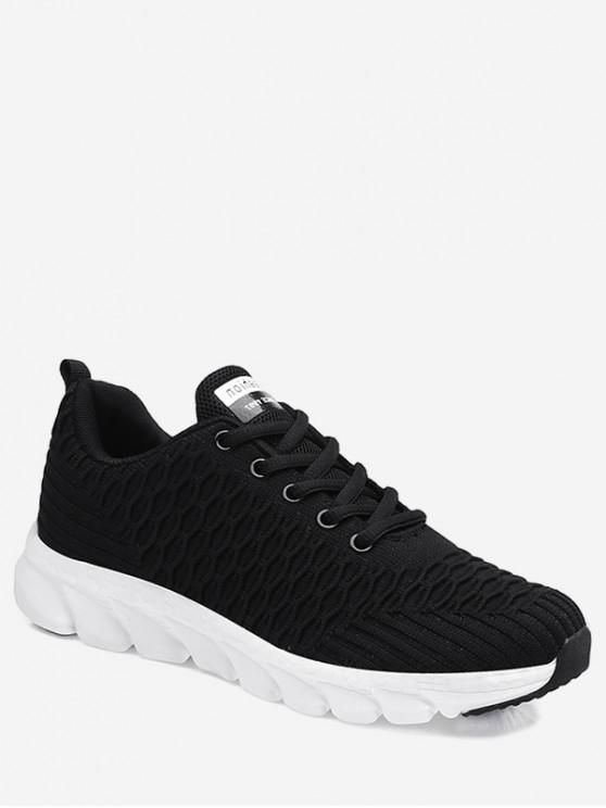 outfits Soft Woven Sports Shoes - BLACK EU 35