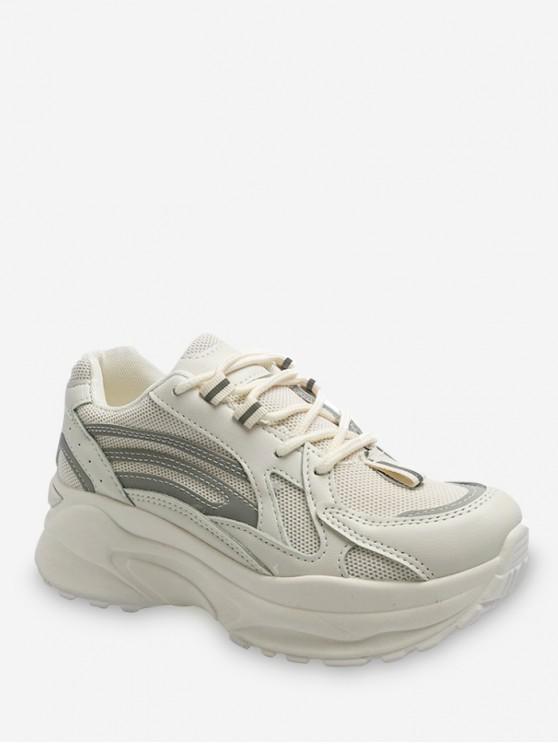 online Casual Shock Absorption Sport Sneakers - BEIGE EU 36
