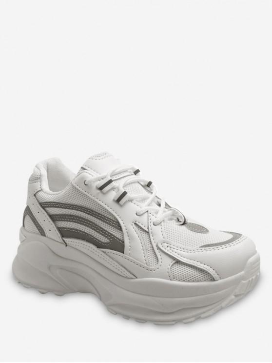 shops Casual Shock Absorption Sport Sneakers - WHITE EU 37