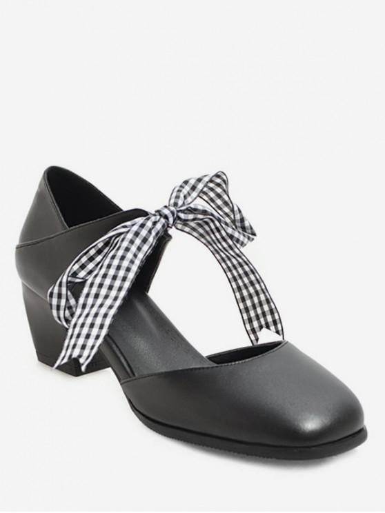 bottom price elegant shape affordable price (ZA) Sweet Bow Round Head Thick Heel Shoes Female Professional High Heel  Sandals Wear Sandals And Slippers 20200 BLACK PINK WHITE