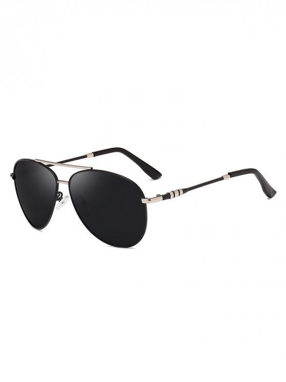 chic Anti UV400 Polarized Pilot Sunglasses - CARBON GRAY
