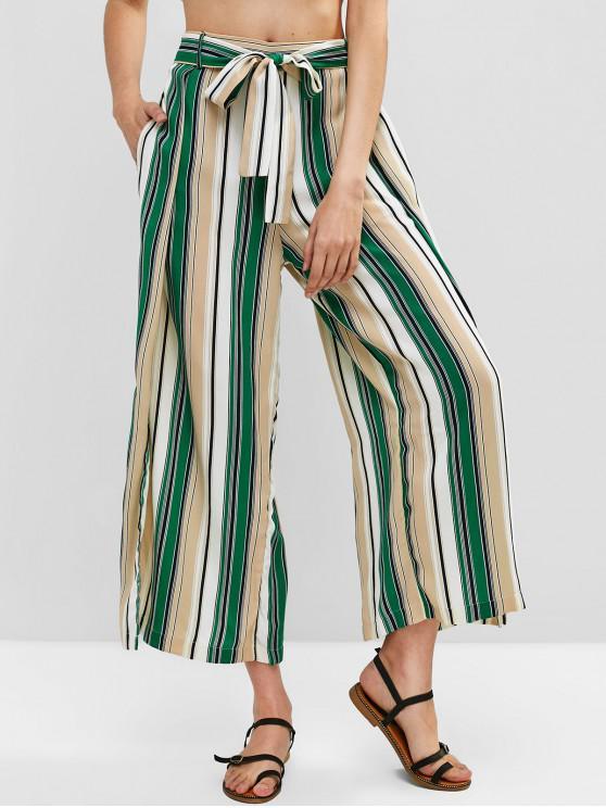 25 Off 2021 Pantalones A Rayas De Colores De Hendidura En Multicolor A Zaful America Latina