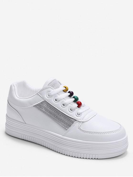 chic Rainbow Beads Platform Sports Shoes - GRAY EU 37