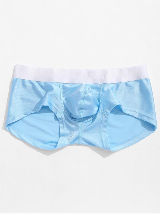 Color Block Men Boxer Underwear - Cielo Azul Oscuro M