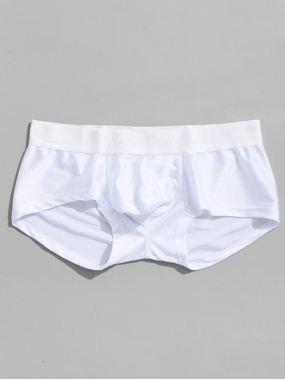 new Color Block Men Boxer Underwear - WHITE M