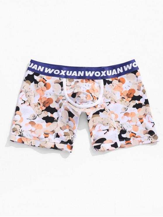 Calzoncillos boxer con estampado geométrico de Waves - Multicolor XL