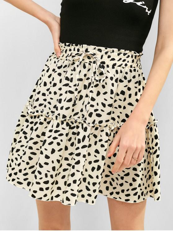 new Leopard Print Knotted A Line Skirt - LEOPARD XL