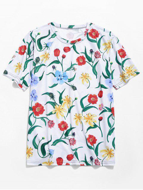 4b8c4c0e877f09 new Allover Floral Print Hawaii Beach T-shirt - MULTI-A 2XL Mobile ...