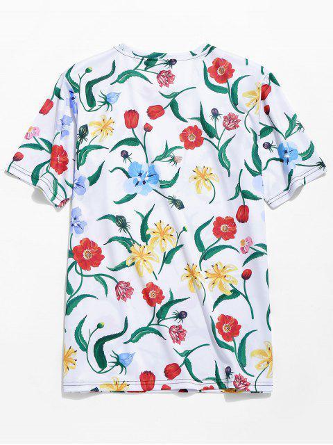 bd9ef20c005f1d ... new Allover Floral Print Hawaii Beach T-shirt - MULTI-A 2XL Mobile ...