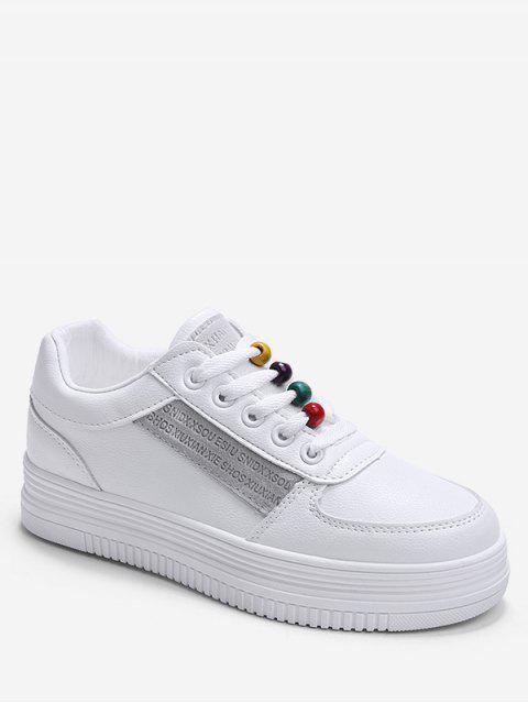 Chaussures de Sport Plate-Forme Perlées Arc-en-Ciel - Gris EU 38 Mobile