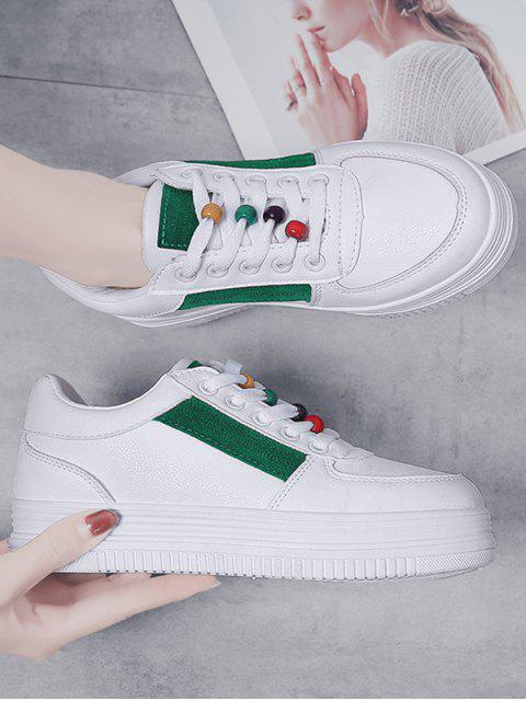 outfit Rainbow Beads Platform Sports Shoes - MEDIUM FOREST GREEN EU 37 Mobile