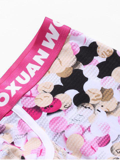 fashion Waves Geometric Print Boxer Briefs - MULTI-A XL Mobile