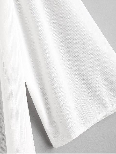 lady Mesh Cover-up - WHITE ONE SIZE Mobile