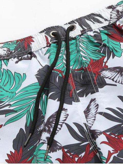 fancy Hawaii Plant Animal Print Board Shorts - MULTI 2XL Mobile