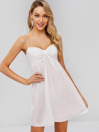 7e06ec4154 Vestido De Camuflagem De Cintas Amarradas Smocked - Branco S ...